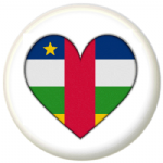 Central African Republic Country Flag Heart 25mm Pin Button Badge